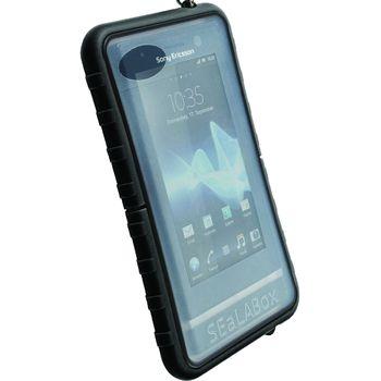 Krusell puzdro vodotesné SEaLABox - L -iPhone 4/3GS, Nok C5/C6-01/C7,Sam S5230,SE Xperia Neo(čierna)