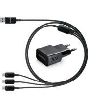 Samsung univerzální nabíječka 2A se třemi výstupy microUSB ET-KG900EB, černý