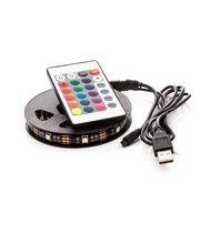 LED pásek 110cm, do USB, 33 diod, dálkový ovladač, 20 barev, samolepící