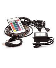 LED pásik 2ks, 2x 50cm, do USB, 15 diód, diaľkový ovládač, 16 farieb, samolepiace LED pásy